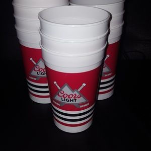 50 piece Coors Light hockey reusable  beer cups